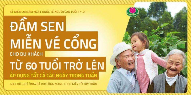 Miễn vé cổng cho người cao tuổi