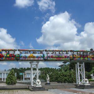 trò chơi thư giãn tàu điện trên không Đầm Sen