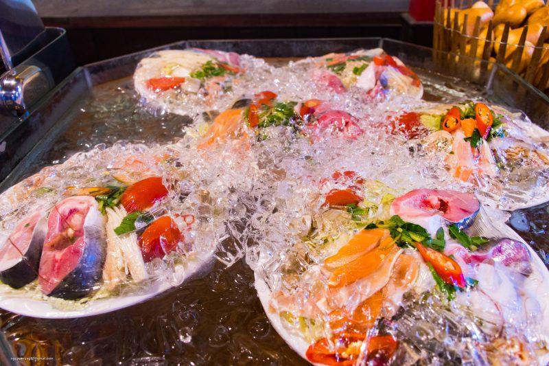 Lẩu hải sản Buffet Đầm Sen