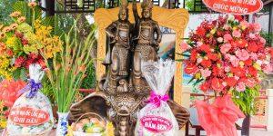 Khánh thành tượng Hai Bà Trưng ở Đầm Sen: tác phẩm điêu khắc 3D