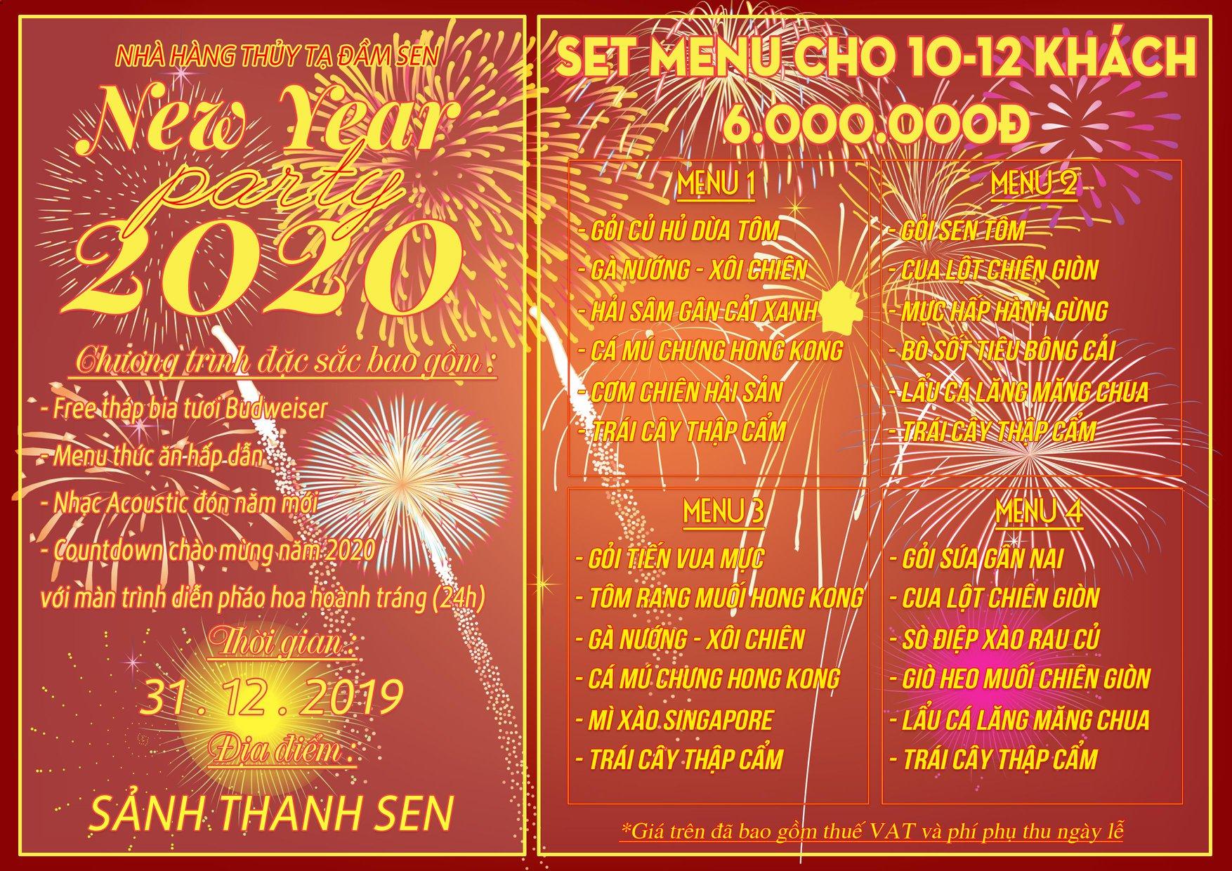 Countdown 2020: Xem pháo hoa tuyệt đẹp từ Thủy Tạ Đầm Sen 8