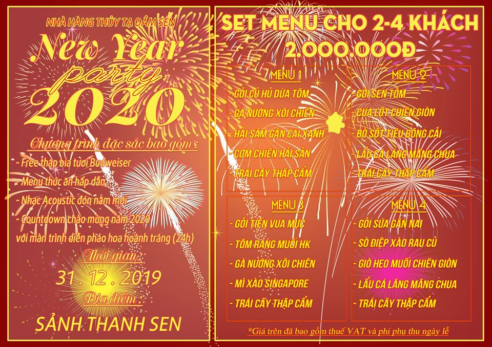 Countdown 2020: Xem pháo hoa tuyệt đẹp từ Thủy Tạ Đầm Sen 5