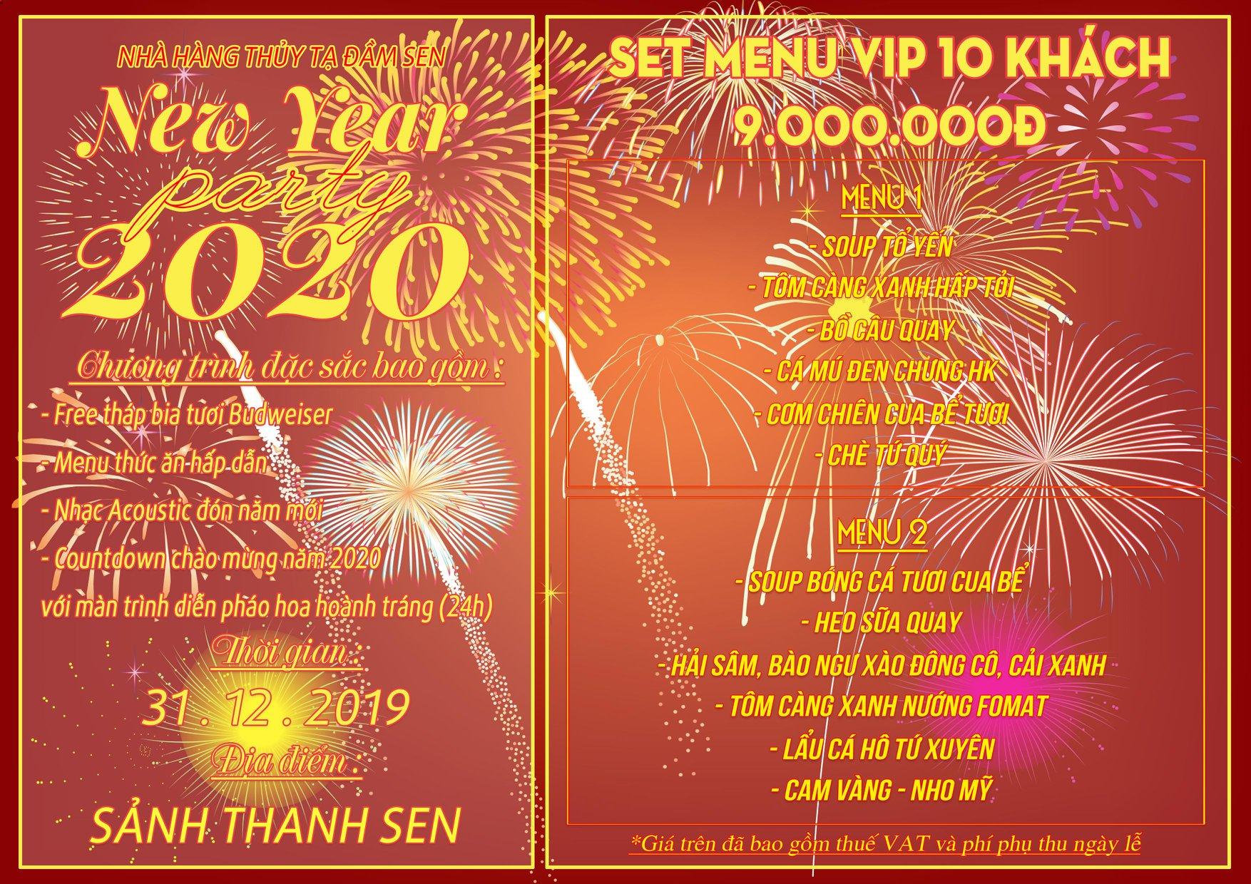 Countdown 2020: Xem pháo hoa tuyệt đẹp từ Thủy Tạ Đầm Sen 7